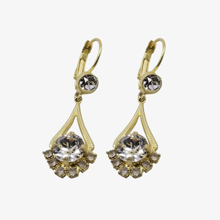 14K Gold Over Bronze Earrings
