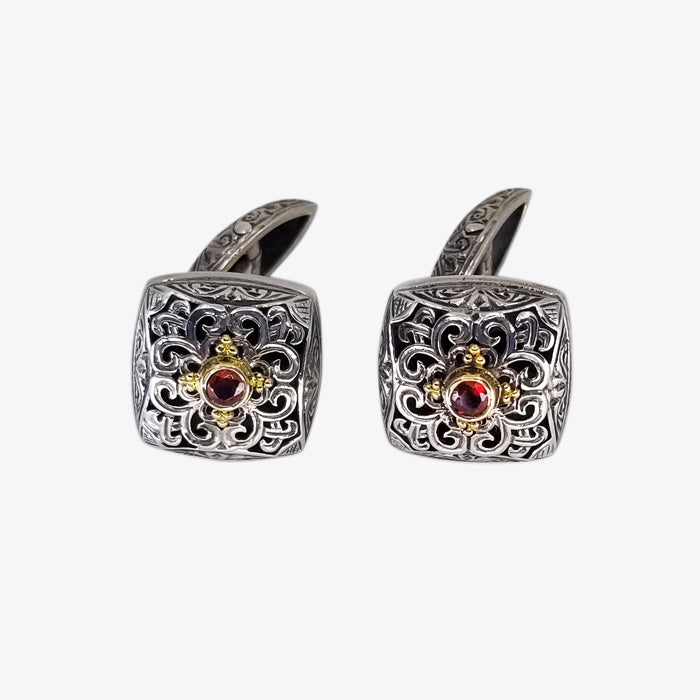 Sterling Silver and 18K Gold Cufflinks