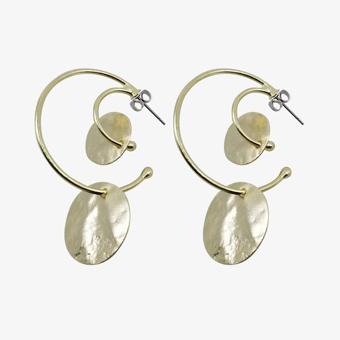 14K Gold Plate over Bronze Earrings