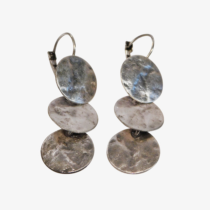 Sterling Silver over Bronze Earrings