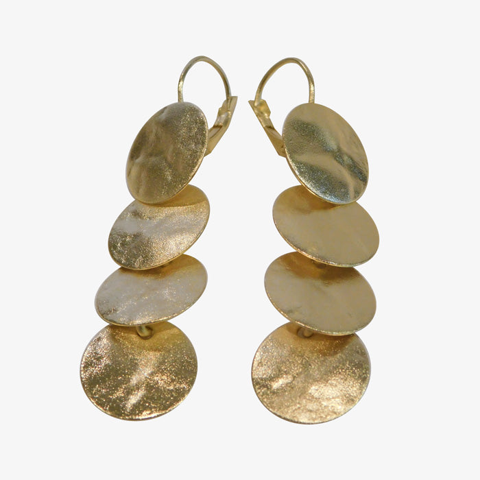 14K Gold over Bronze Disc Earrings