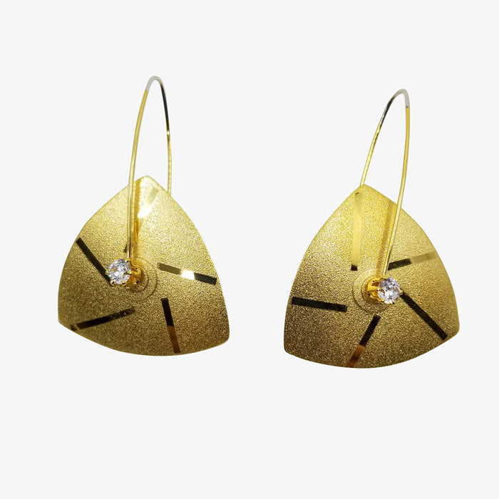 Anodized Sterling Silver with 18K Gold Vermeil Earrings