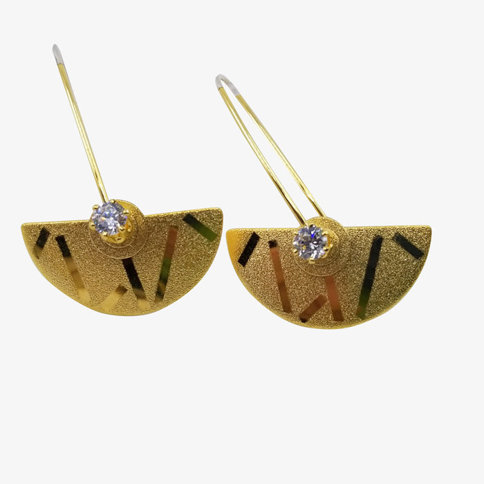Sterling Silver and 18K Gold Vermeil Earrings