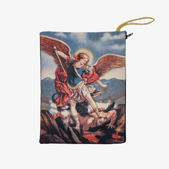 Tapestry Ipad/Bible Pouch- St Michael