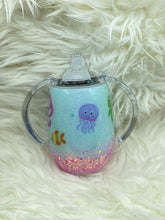 Load image into Gallery viewer, 8oz sippy under the sea