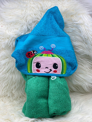 Cocomelon blue hooded towel