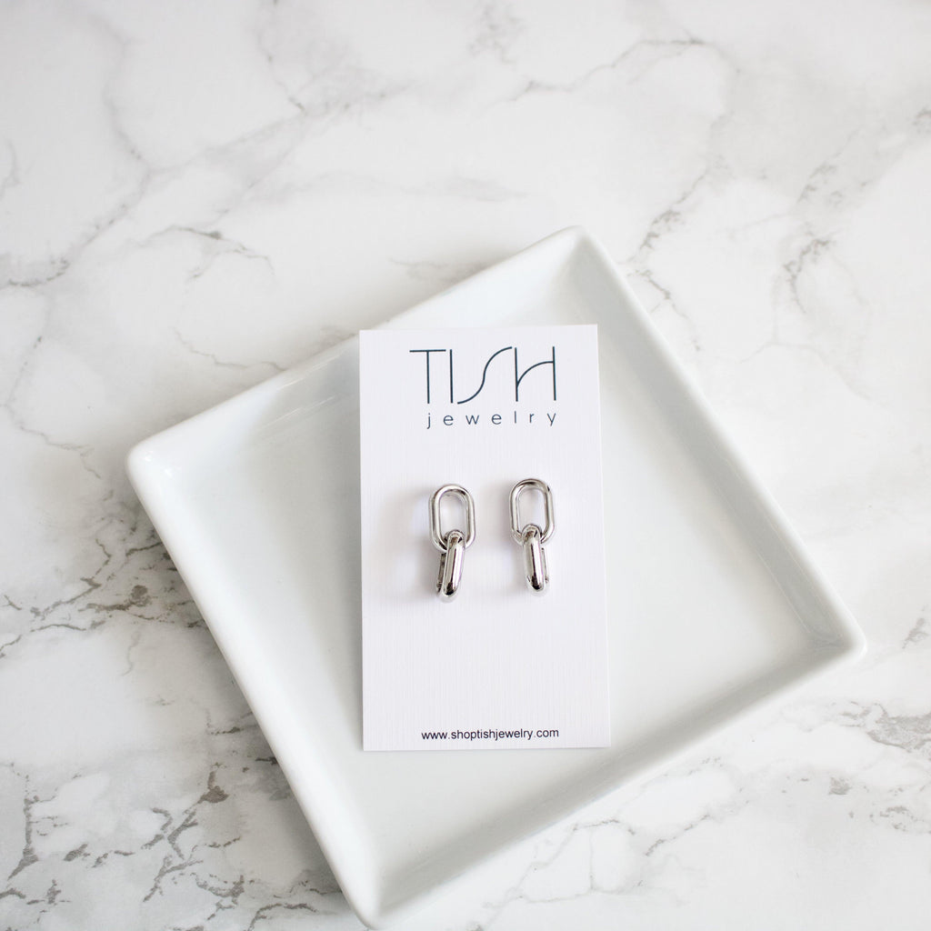 Benny // Small Double Loop Earrings - TISH jewelry