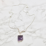 Amethyst Slice Necklace - TISH jewelry