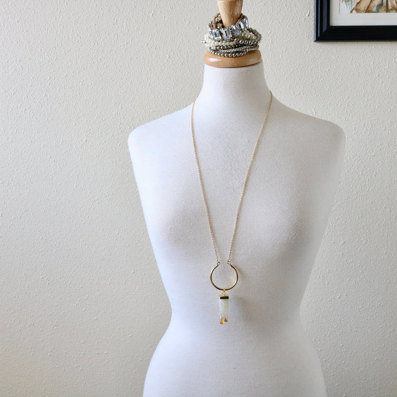 Raw Citrine Crystal Necklace