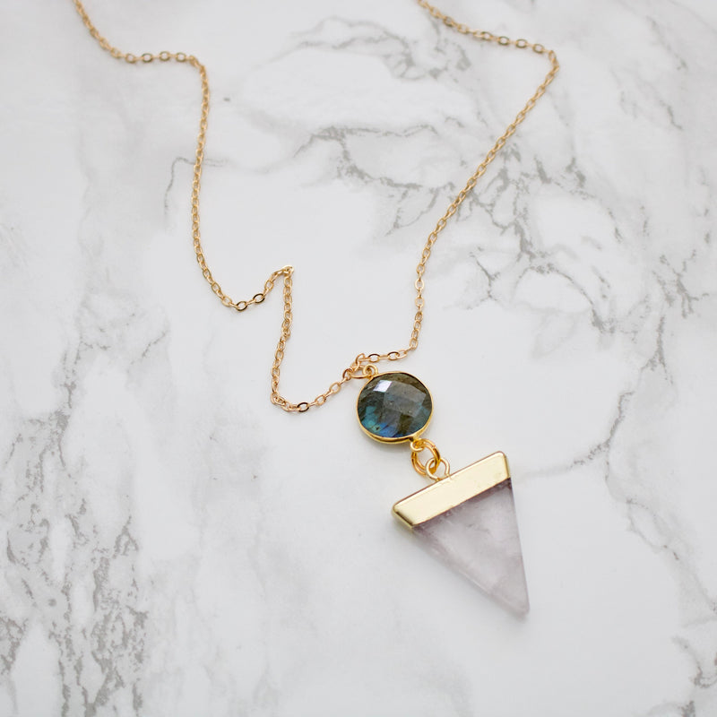 Quartz and Labradorite Necklace