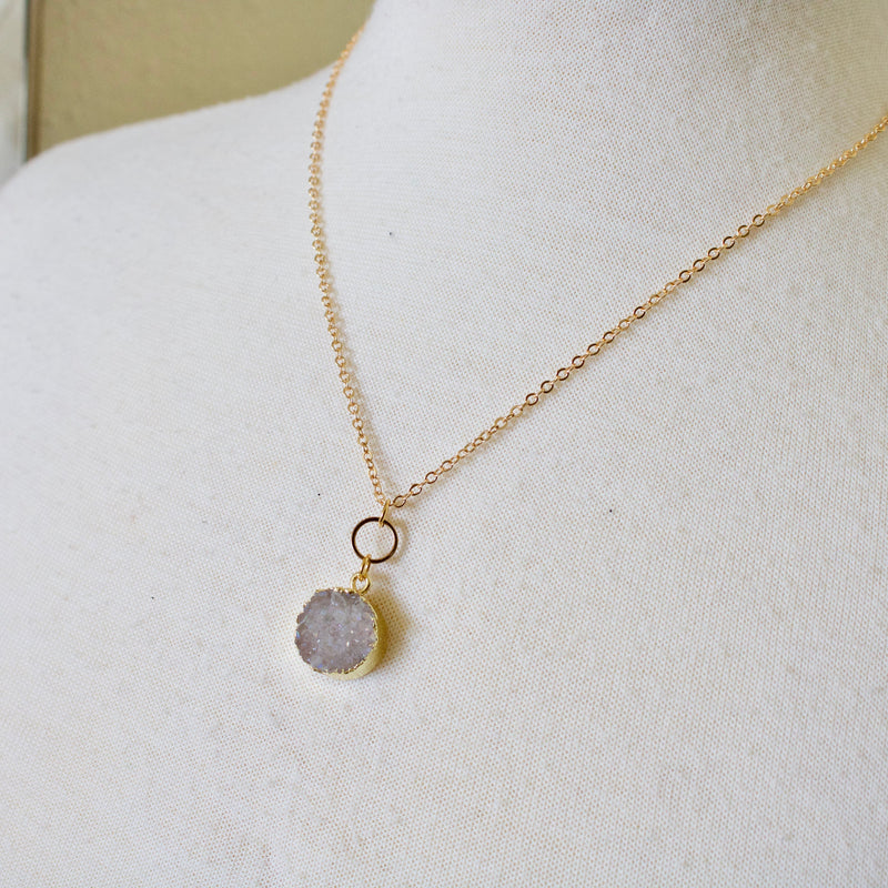 Dainty Druzy Necklace