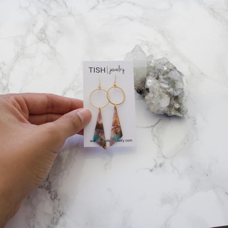 Tropicana Triangle Earrings