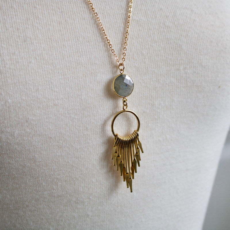 Labradorite Spike Necklace