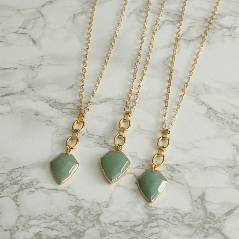 Erika Green Aventurine Necklace