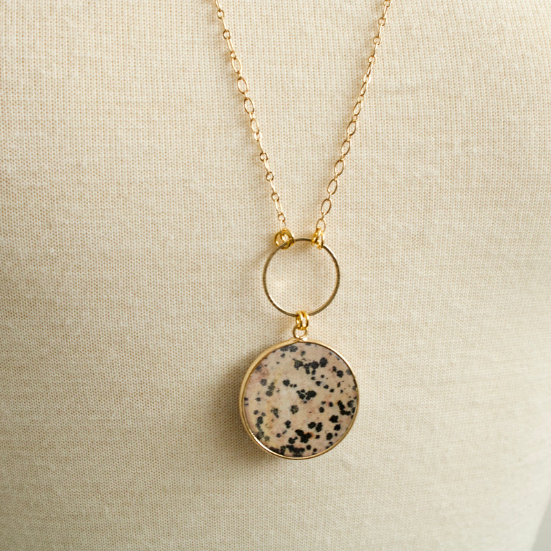 Leona Dalmatian Jasper Necklace