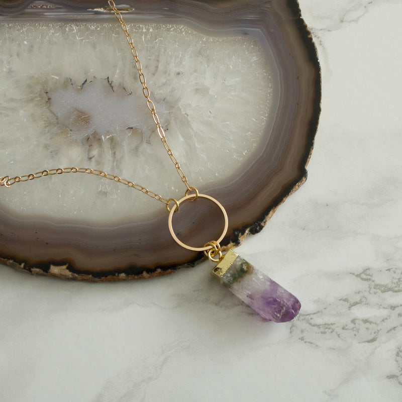 Nova Amethyst Prism Necklace