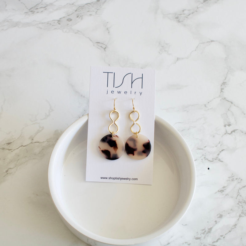 Trudy Blonde Tortoise Shell Earrings