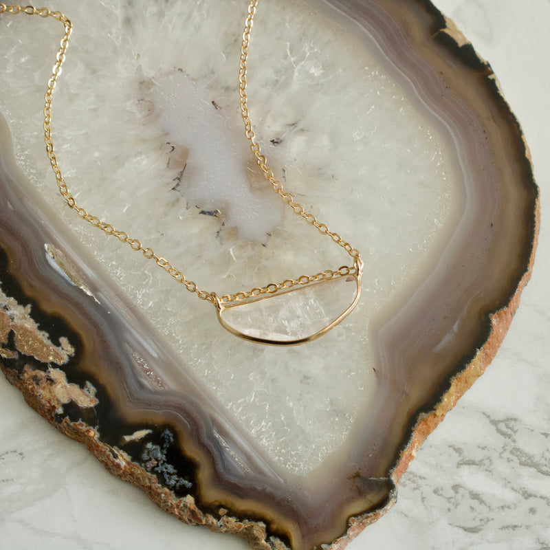Luna Quartz Short Necklace