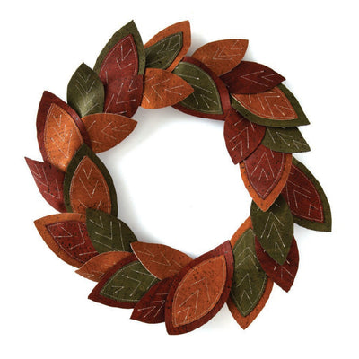 PRECUT CORK FABRIC WREATH KIT