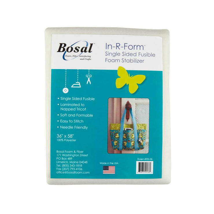 "Bosal In-R-Form Single-Sided Fusible 36"" by 58"" White"