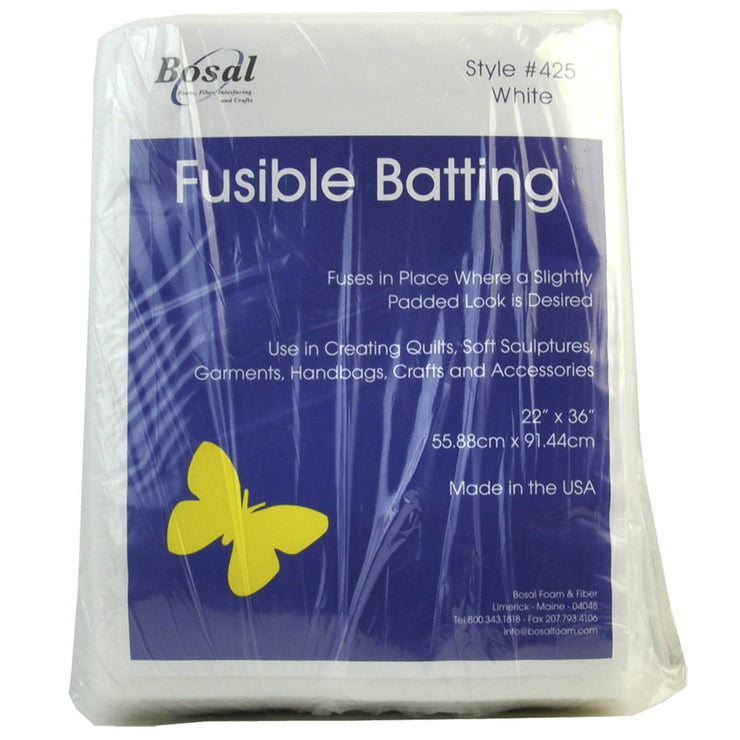 "Bosal Fusible Batting 22"" x 36"" White"