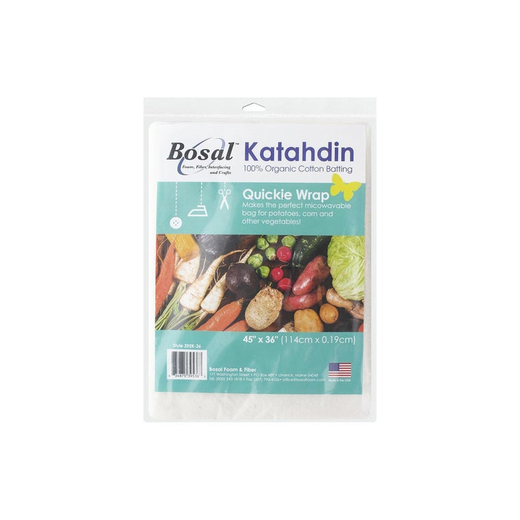 "Bosal Katahdin 36"" x 45"" 100% Organic Quickie Wrap Cotton Batting"