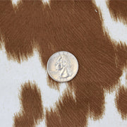 Cow Cream Bronze Faux Fur - 1 Inch