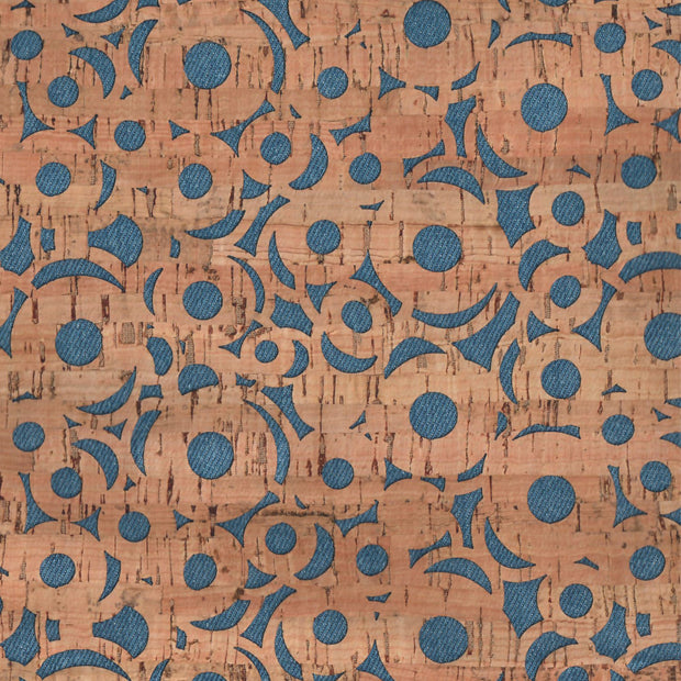 PRO Lite Denim Canvas Cheery O's Cork Fabric By the Inch