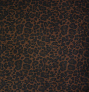1/2 Yard Cut: Leopard Black Walnut Faux Fur