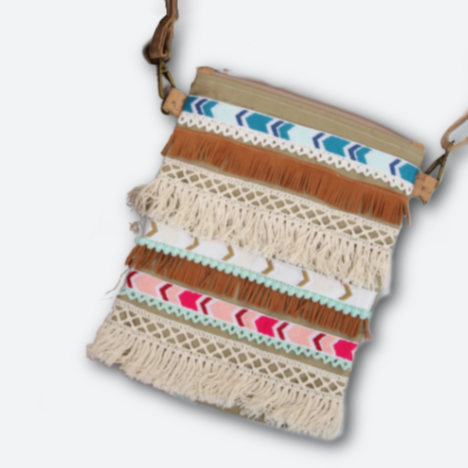Trimmed Cork Zipper Purse Instant Download
