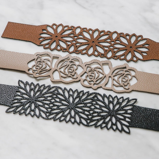 Precut Faux Leather Bracelets Kit
