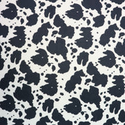Cow Black White Faux Fur - 1 Inch