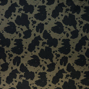 1/2 Yard Cut: Cow Black Olive Faux Fur