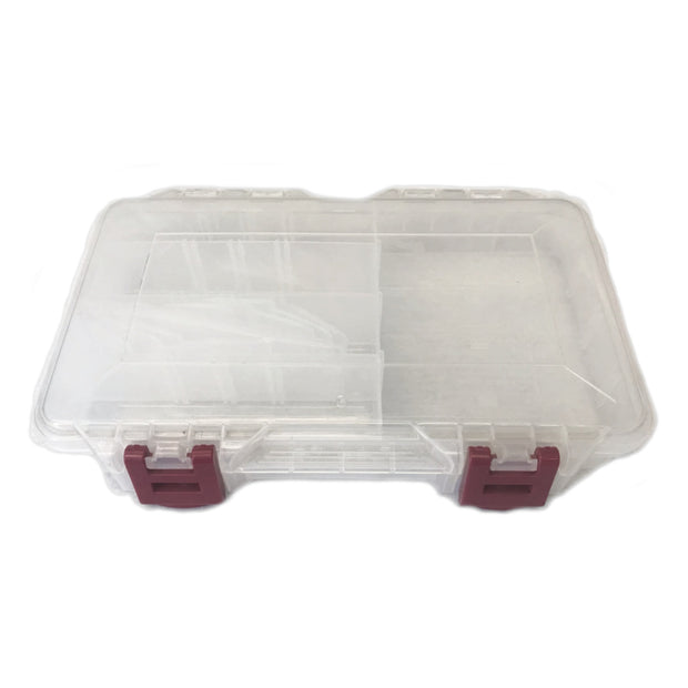 4 Pack Clear Plastic Storage Compartment Box