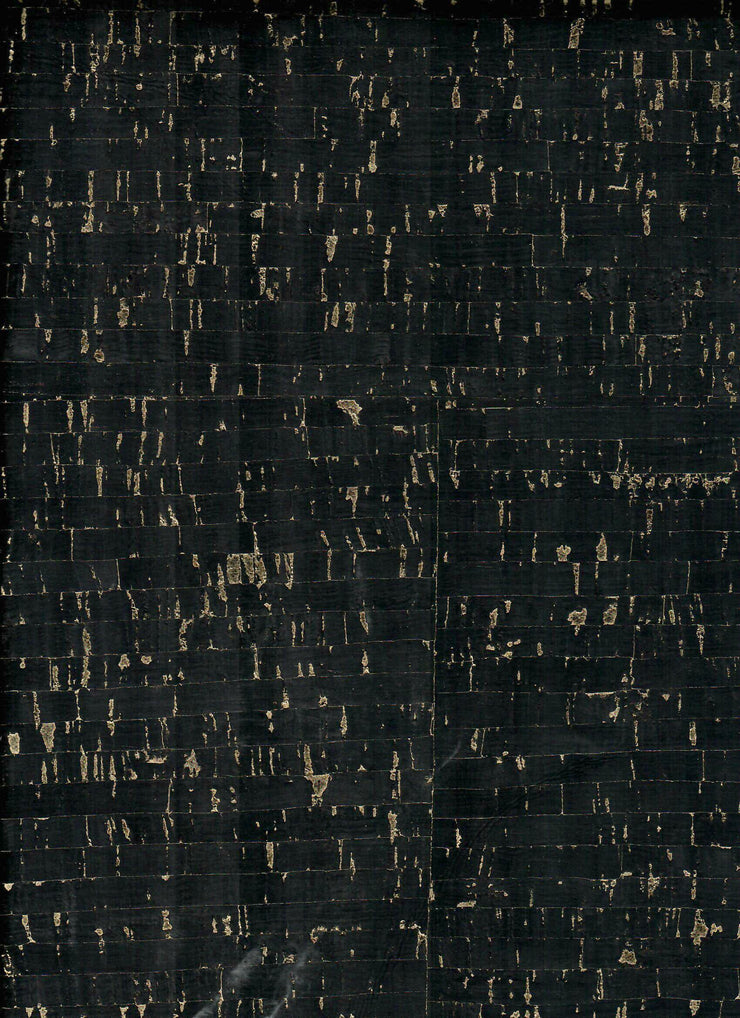 PRO Natural Black Gold Flecked Cork Fabric By the Inch