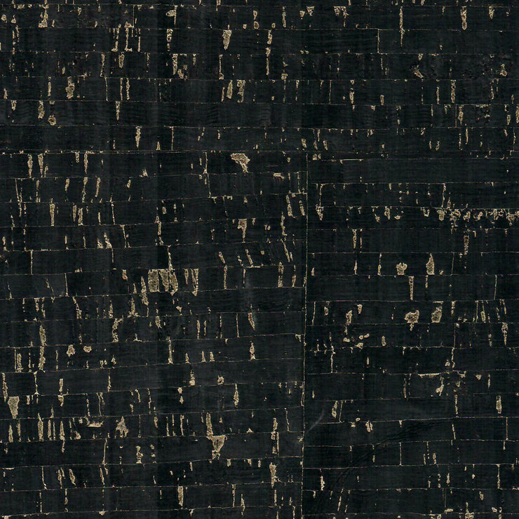 1/2 Yard Cut: PRO Natural Black Gold Flecked Cork Fabric