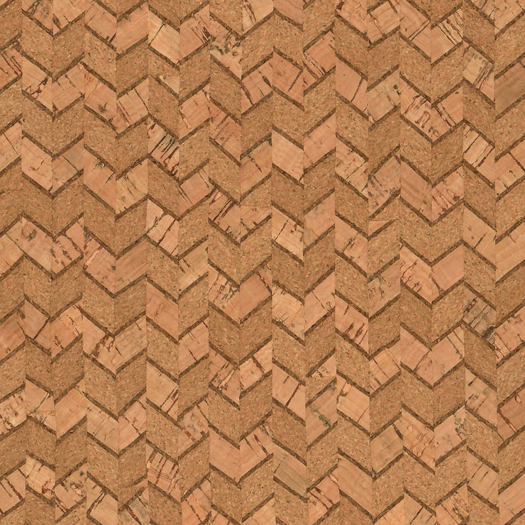 1/2 Yard Cut: PRO Lite Natural Chevron Cork Fabric