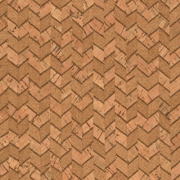PRO Lite Natural Chevron Cork Fabric By the Inch