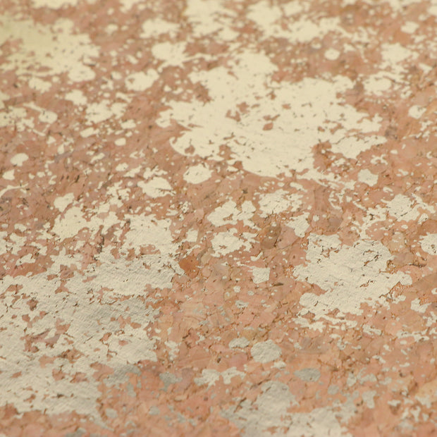 PRO Natural Gold Splatter Cork Fabric By the Inch