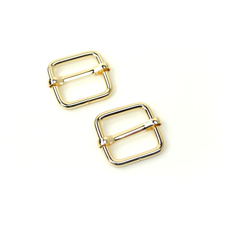 CLEARANCE Two Gold Slider Buckles 3/4""