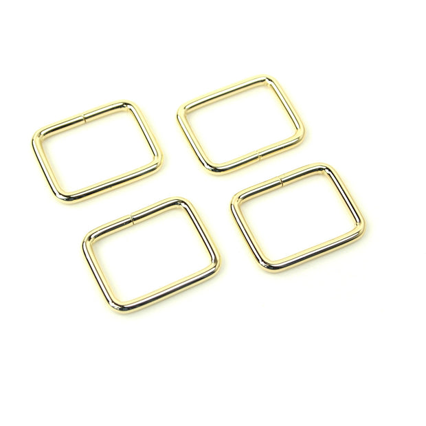 CLEARANCE Four Gold Rectangle Rings 1""