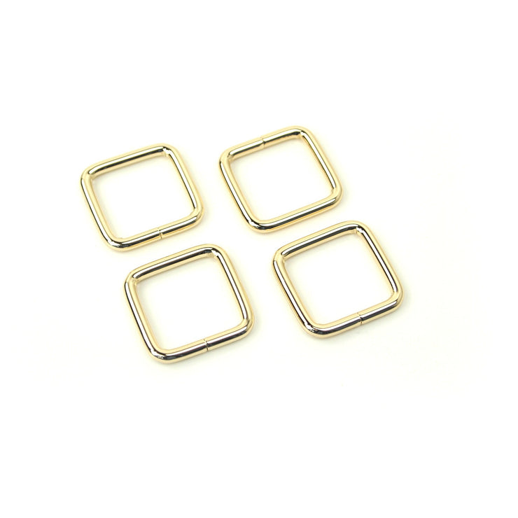 CLEARANCE Four Gold Rectangle Rings 3/4""