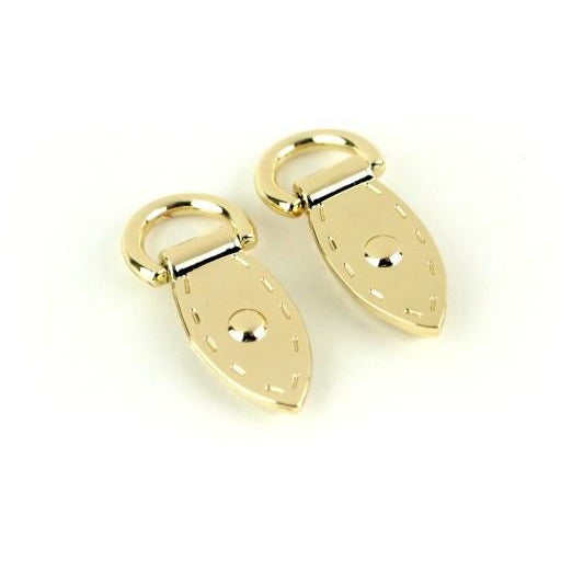 CLEARANCE Two Gold Mini Decorative Strap Connectors