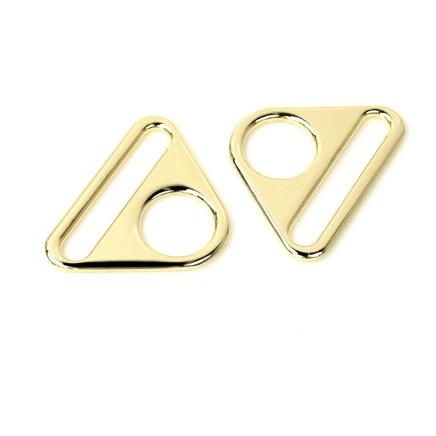 CLEARANCE Two Gold Triangle Rings 1 1/2""