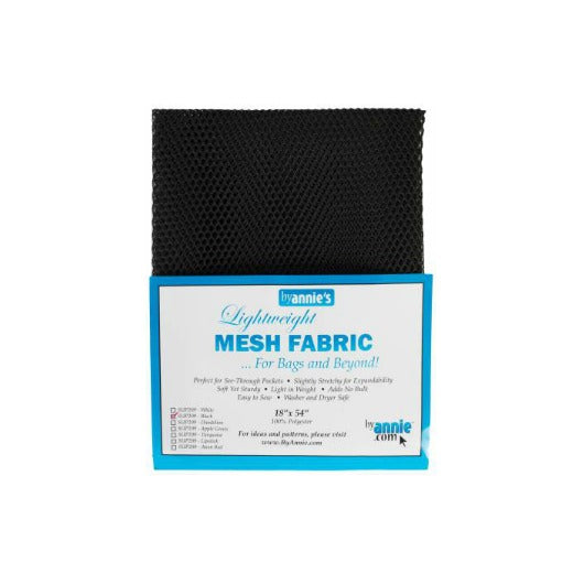 "byannie's Mesh Fabric 18"" x 54"" Black"