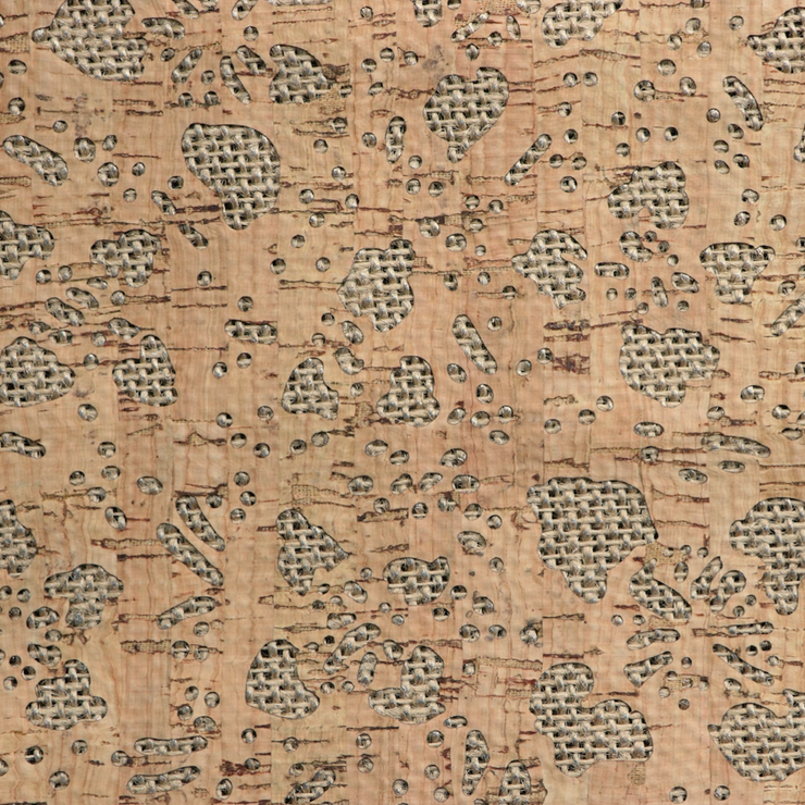 PRO Lite Burlap Backed Floral Cork Fabric By the Inch