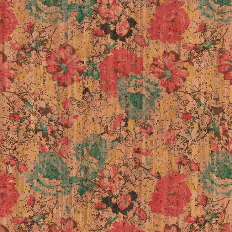 1/2 Yard Cut: PRO Spring Bouquet Cork Fabric