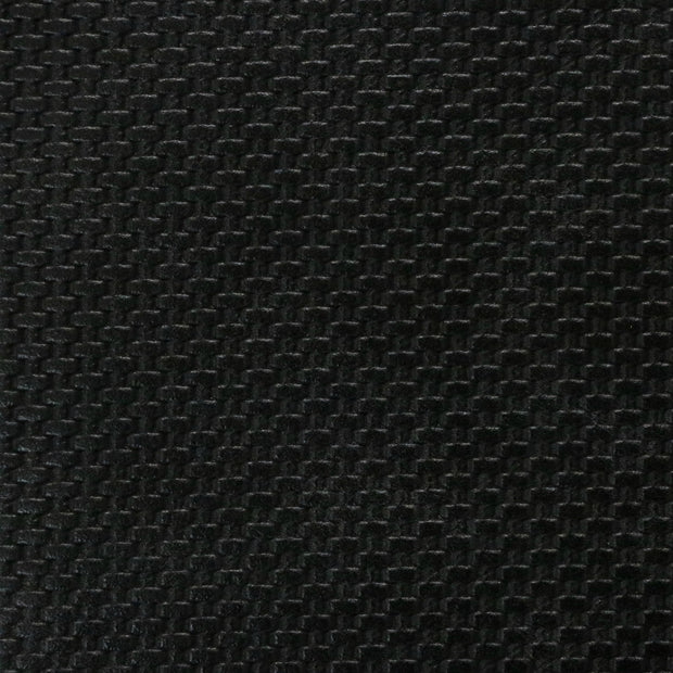 Black Weave Faux Leather By the Inch