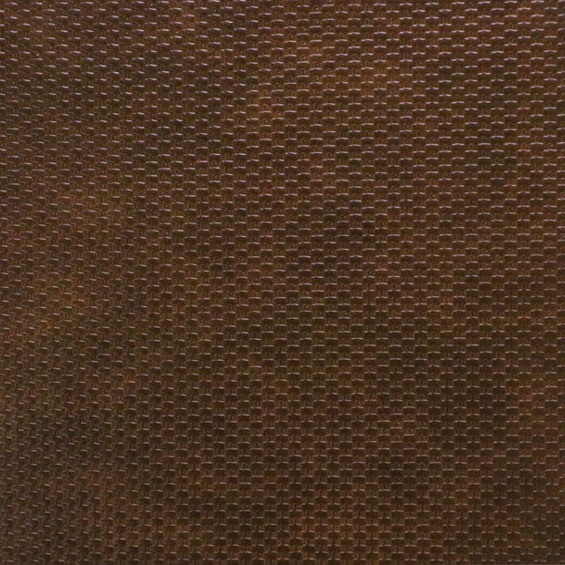 Brown Weave Faux Leather By the Inch