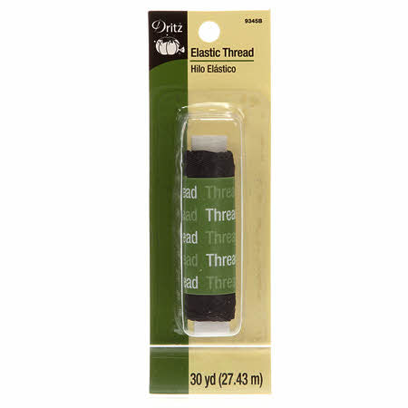 Dritz Black Thread Elastic 30yds